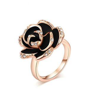bague diamant rose et noir