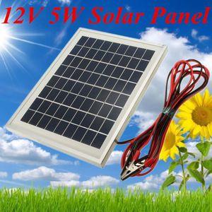 panneau solaire 12v 5w achat vente panneau solaire 12v 5w pas cher cdiscount. Black Bedroom Furniture Sets. Home Design Ideas