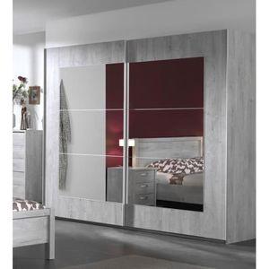 ARMOIRE DE CHAMBRE Armoire portes coulissantes avec miroir design Joe