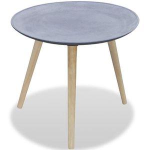 CONSOLE EXTENSIBLE Table d'appoint ronde - Table basse Gris Aspect bé