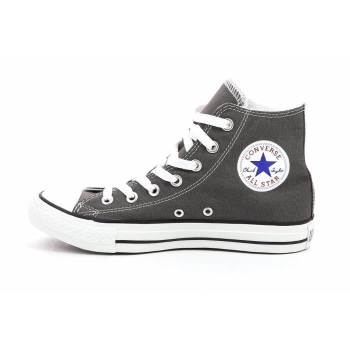 Chaussures multisports de coloris gris, tige en textile, de semelle extérieure en caoutchouc, fermeture par lacets.BASKET