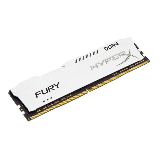 HYPERX Mémoire PC FURY White - 16Go - DDR4 - 2400MHz - CL15 - DIMM