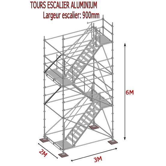 tour escalier aluminium 6m achat vente pi ce mat riel chantier tour escalier aluminium 6m. Black Bedroom Furniture Sets. Home Design Ideas