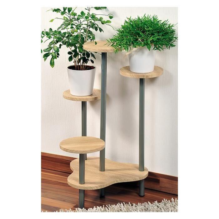 support multiple pour 4 plantes hauteur 75 cm bois achat vente meuble support plante. Black Bedroom Furniture Sets. Home Design Ideas
