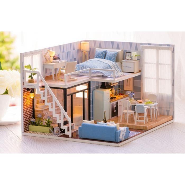 Dotopon Bricolage Maison De Poupée En Bois Poupée Maisons Miniature