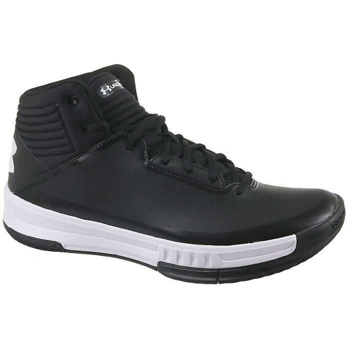 UA Lockdown 21303265-001 Homme Chaussures de basket-ball Noir