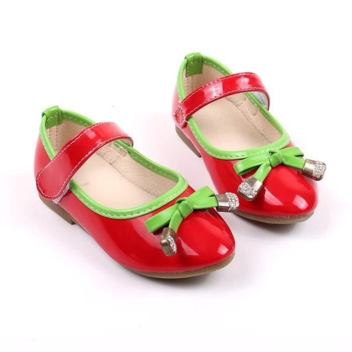 BOTTE Casual Enfants Chaussures Filles Bébé Filles Sneakers Enfants Doux Chaussures simples@RougeHM EzCEI