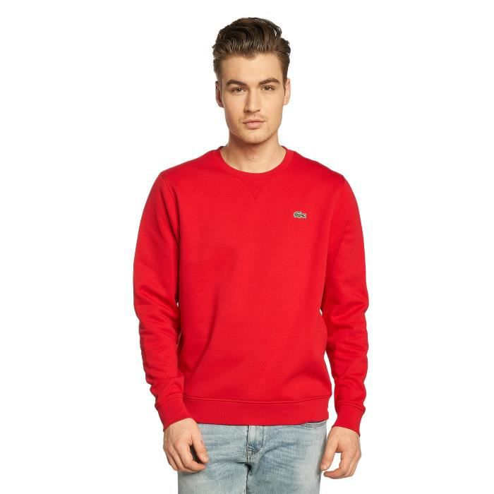 e14f0bd586 Lacoste Homme Hauts / Sweat & Pull Classic Rouge Rouge - Achat ...