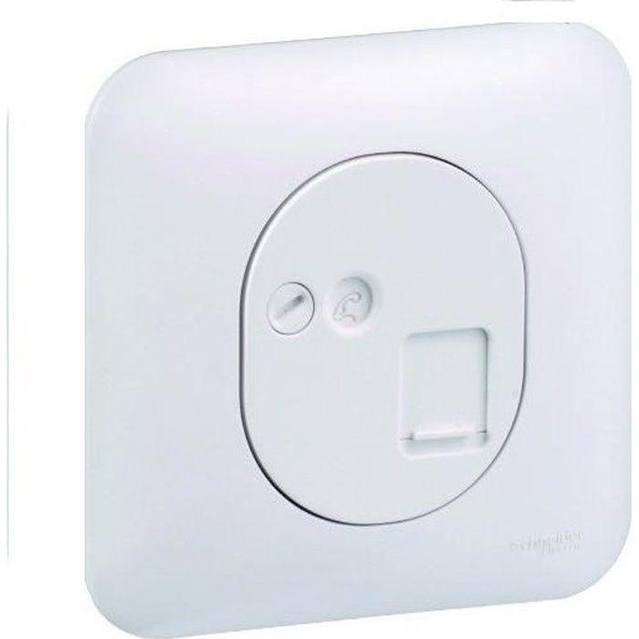 schneider electric prise rj45 pour t l phone et informatique ovalis achat vente prise prise. Black Bedroom Furniture Sets. Home Design Ideas