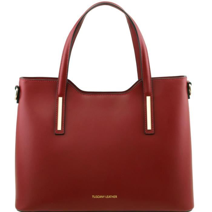 Sac Leather Olimpia Tuscany Cabas En Cuir Rouge Ruga qTE5dw5ng