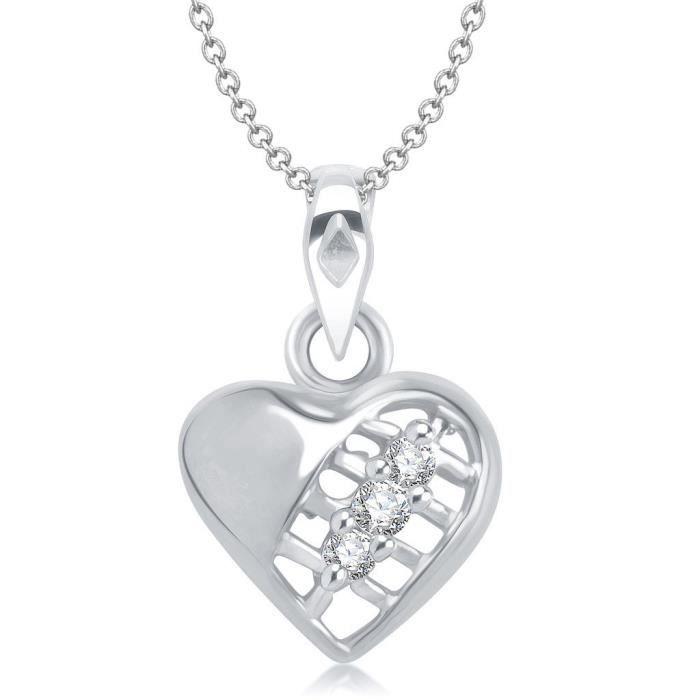 Femmes Vk Bijoux Saint Valentin Coeur Collection de laiton alliage dargent Cz américain Pendentif diamant pour Vkp EWJHE
