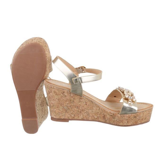 femme sandalette chaussure semelle compensée Wedges escarpin blanc noir cpq2e2k