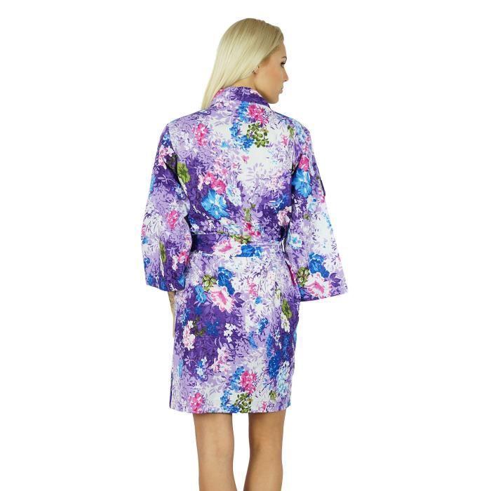Demoiselle D'honneur Bimba Robe Wrap De Cover Femmes Se Up Coton Courte Bleu Préparer wcYXYqSa