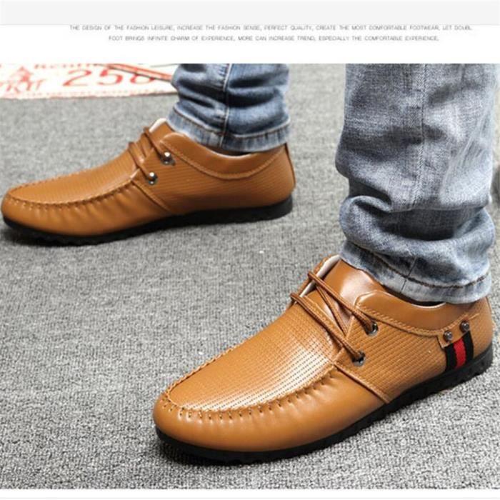 De Cool Confortable 2017 Luxe Taille Plus Marque Moccasins chaussure Homme cuir Chaussures Respirant Supérieure Qualité De Bz5SxH