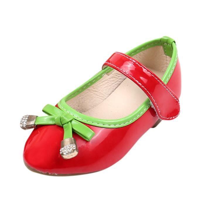 BOTTE Bébé Fashion Candy Couleur Bow Sneaker Enfant Filles Toddler Casual Chaussures simples@RougeHM