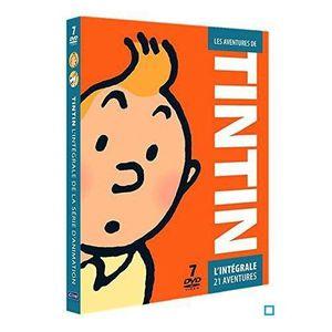 DVD DESSIN ANIMÉ DVD Coffret intégrale les aventures de Tintin :...