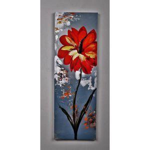TABLEAU - TOILE Tableau déco Fleurs  65 -  Toile peinte à la main