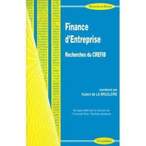 LIVRE COMPTABILITÉ Finance d'entreprise. Recherches du CREFIB