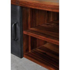 MEUBLE TV Meuble TV ALICE en bois de suar massif et métal -