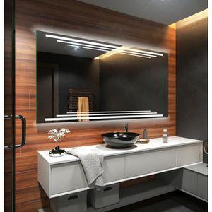 MIROIR SALLE DE BAIN ARTFORMA L75 120x60cm Illumination LED miroir sur