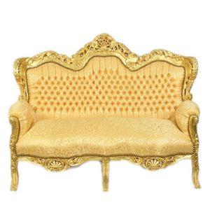 CANAPÉ - SOFA - DIVAN Casa Padrino baroque deux places canapé King Gold
