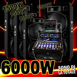 PACK SONO SONO COMPLÈTE 6000W avec 4 ENCEINTES 1500W + AMPLI