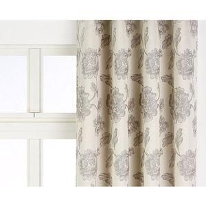 Rideau Satin Jacquard LOURD Cheverny Gris Beige 140 x 280 cm Style ...