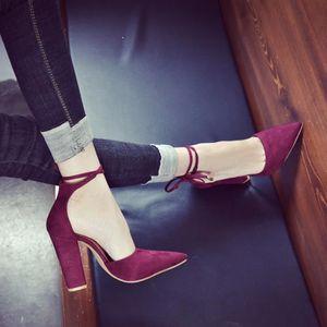 ESCARPIN Femmes Solide Couleur Chaussures Talon Pointu épai
