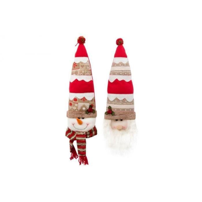 Personnage de Noël : Père Noël en tissu 48 cm