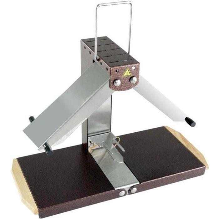 Appareil à raclette brézière Montagnarde 1/4 meule 900 W - inox