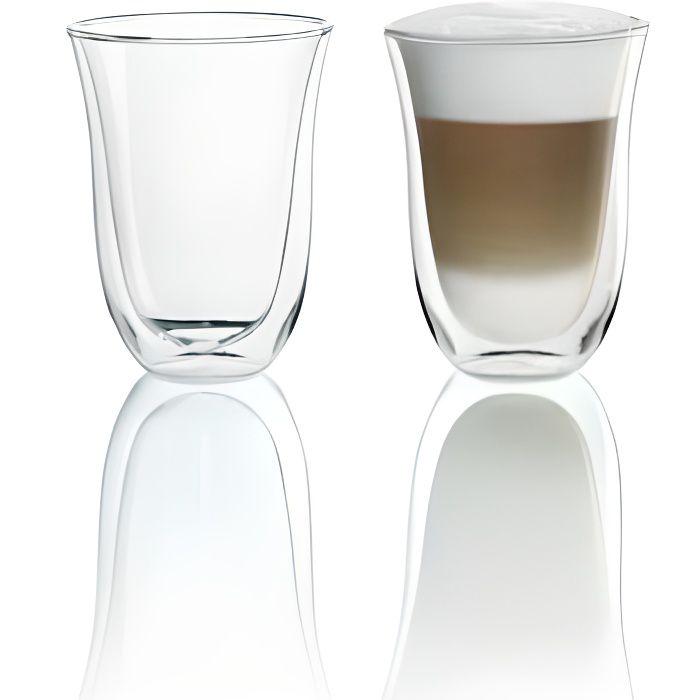 DELONGHI Lot de 2 tasses Latte Macchiato - 22 cl
