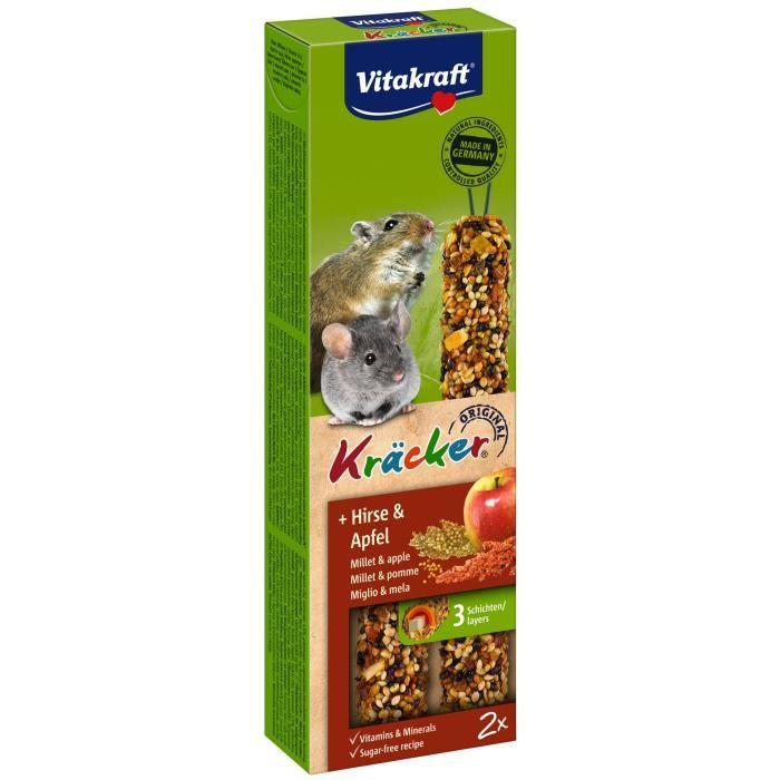 VITAKRAFT Kräcker Pomme et millet P/2 - Pour souris et petit rongeur