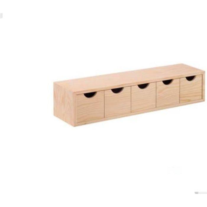 bloc 5 tiroirs bois achat vente pas cher. Black Bedroom Furniture Sets. Home Design Ideas