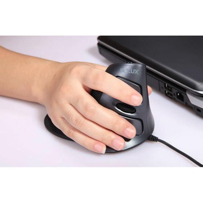 souris ergonomique delux verticales filaire usb souris de jeu d 39 ordinateur de souris d. Black Bedroom Furniture Sets. Home Design Ideas
