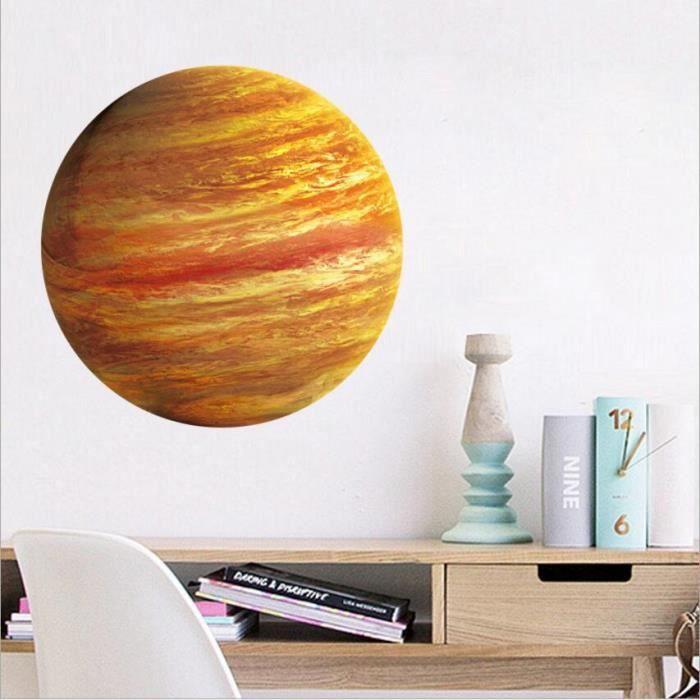 D'enfants Planètes Fluorescents Neuf Autocollants Stickers Planète Amovible Muraux Chambre Jupiter Nouveau Lumineux yf76gb