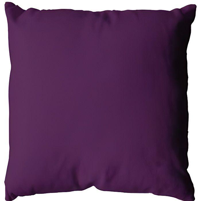 Coussin Uni Polyester Violet 40 x 40 cm -