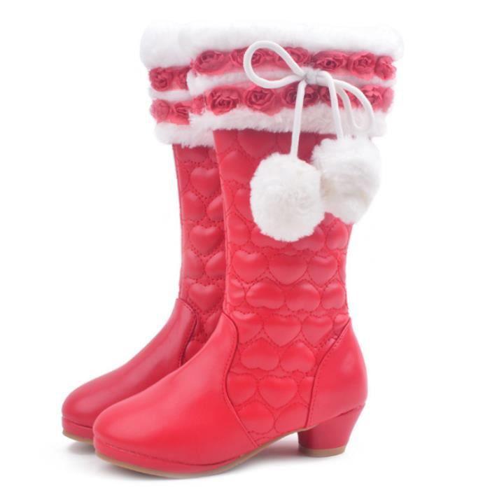 Enfants bottes d'hiver filles princesse bottes nouvelles étagères chaussures hautes chaussures jolies chaussures pour enfants