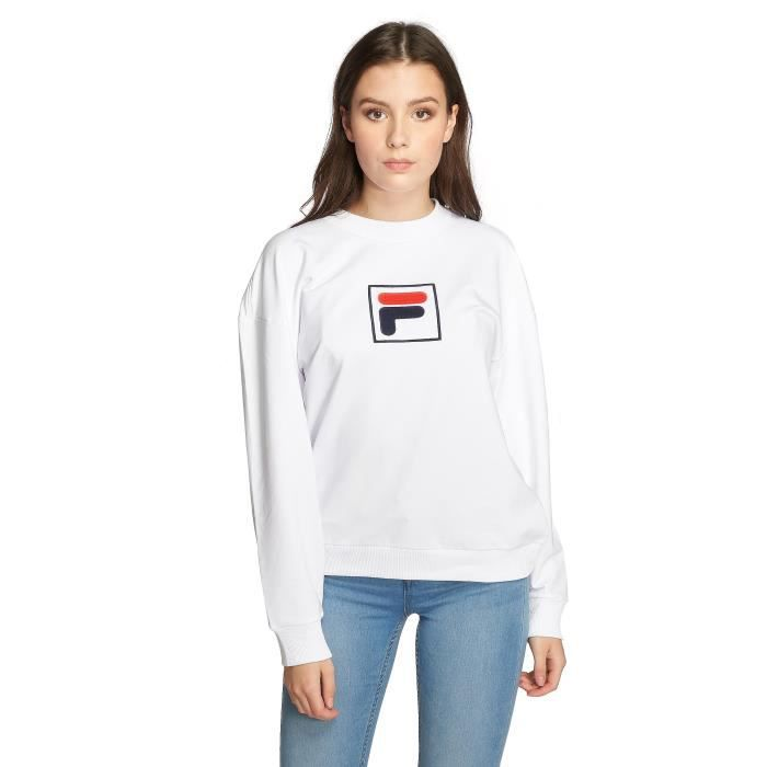 pull fila homme blanche