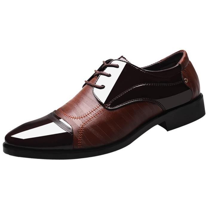 Lace Hommes Marron Classic Chaussures Modern Up Doublé Perforé Oxfords Cuir Pour 57OZqUw