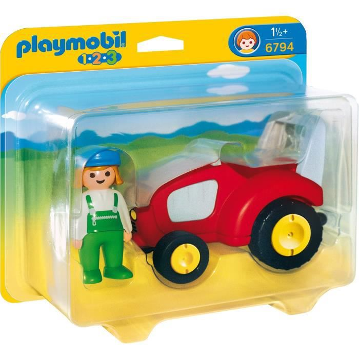Vente Playmobil Tracteur Agricultrice Univers 6794 Achat Avec OPZukXi