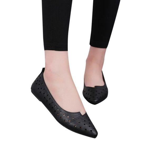 Femmes Femmes Slip On Sandales plates Chaussures Casual solides  Chaussures mode Mocassins étoiles  solides Noir_XIEZI*7421 Noir Noir - Achat / Vente slip-on 970174