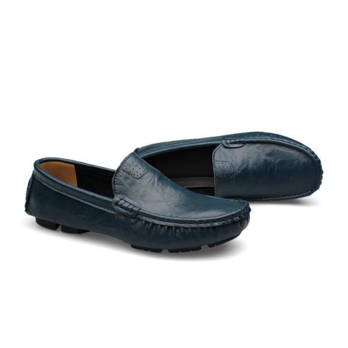 Mocassin Hommes Mode Chaussures Grande Taille Chaussures XX-XZ73Bleu39