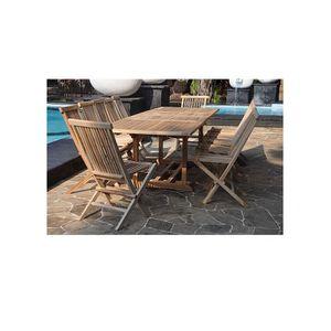 Table et chaise exterieur 12 personnes achat vente for Table exterieur teck pas cher