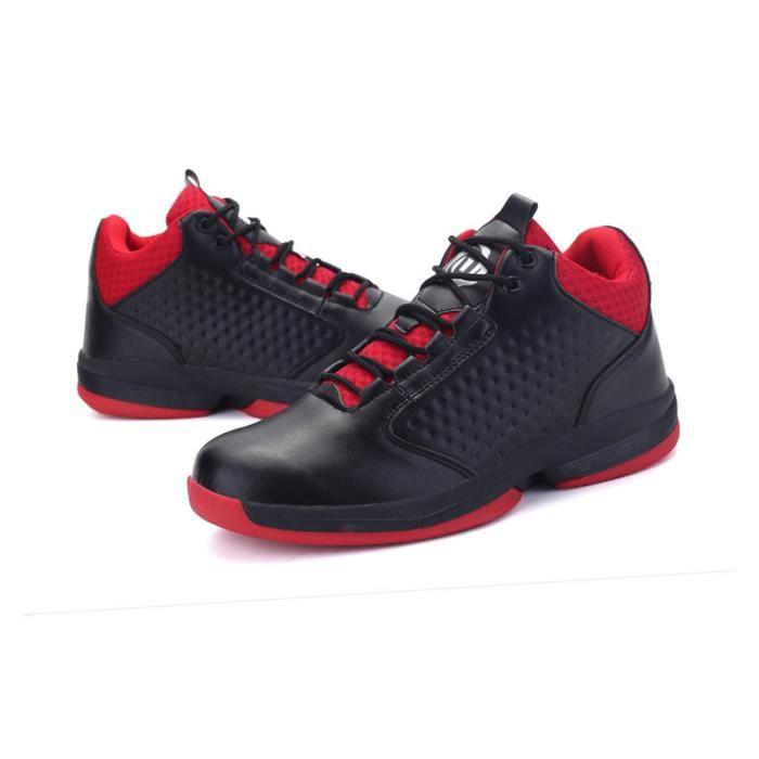 JOZSI Baskets Homme Chaussure été et hiver Jogging Sport léger Respirant Chaussures DTG-XZ223Noir39