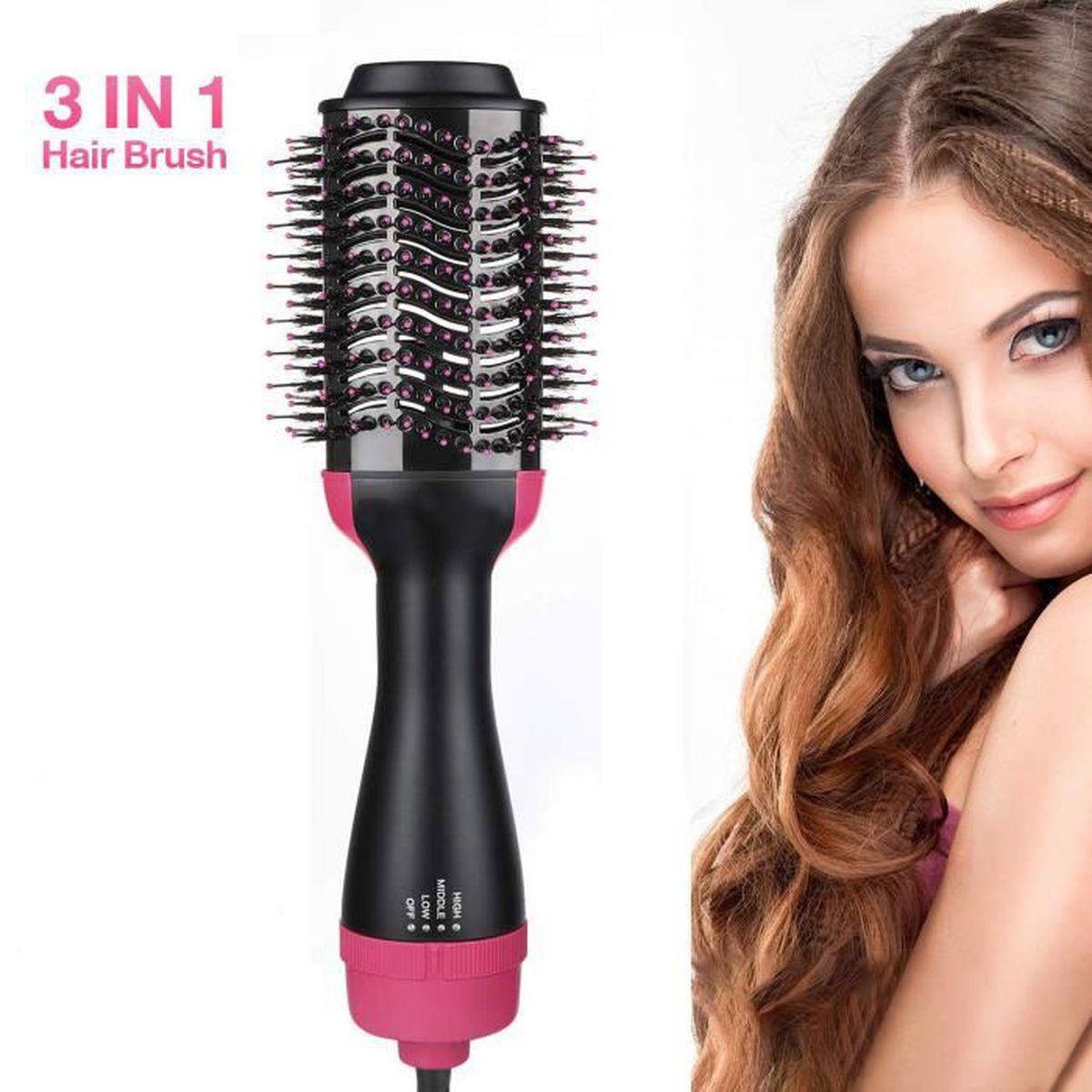 BROSSE SOUFFLANTE Brosse Soufflante Rotative Sèche-Cheveux Styler Br