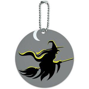 BRACELET DE MONTRE Sorcière de Halloween ronde ID bagages Carte de Ta
