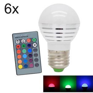 AMPOULE - LED 6X E27 3W RGB Ampoules LED Multicolore LED 16 Chan