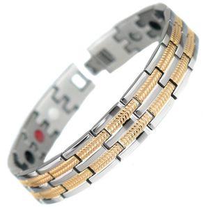 BRACELET - GOURMETTE  Bracelet titane magnetique homme 16 bio aimant 3