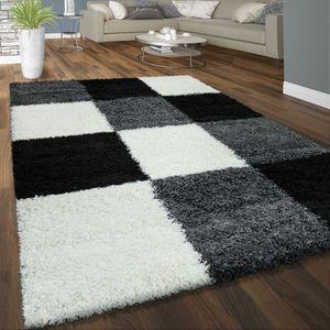 Tapis shaggy noir 160x230 cm achat vente pas cher - Tapis shaggy noir et blanc ...