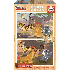 PUZZLE GARDE DU ROI LION Puzzle en Bois 2x25 Pièces